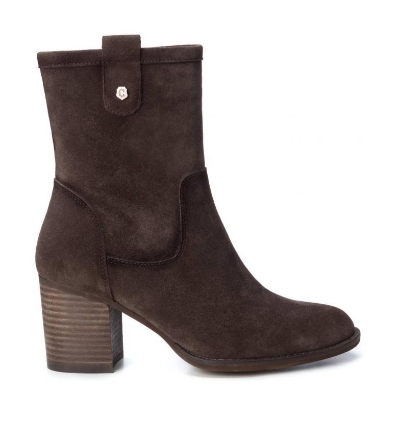 Comprar Carmela Leather boots 066838 taupe -Heel height: 7cm