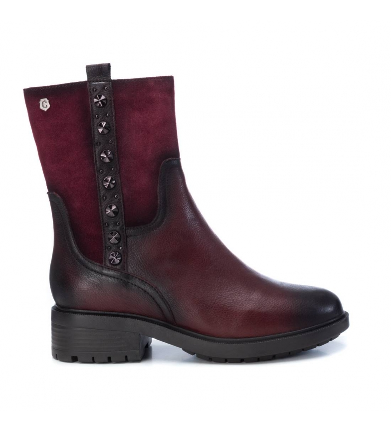 Comprar Carmela Leather ankle boots 066865 burgundy -Heel height: 4cm