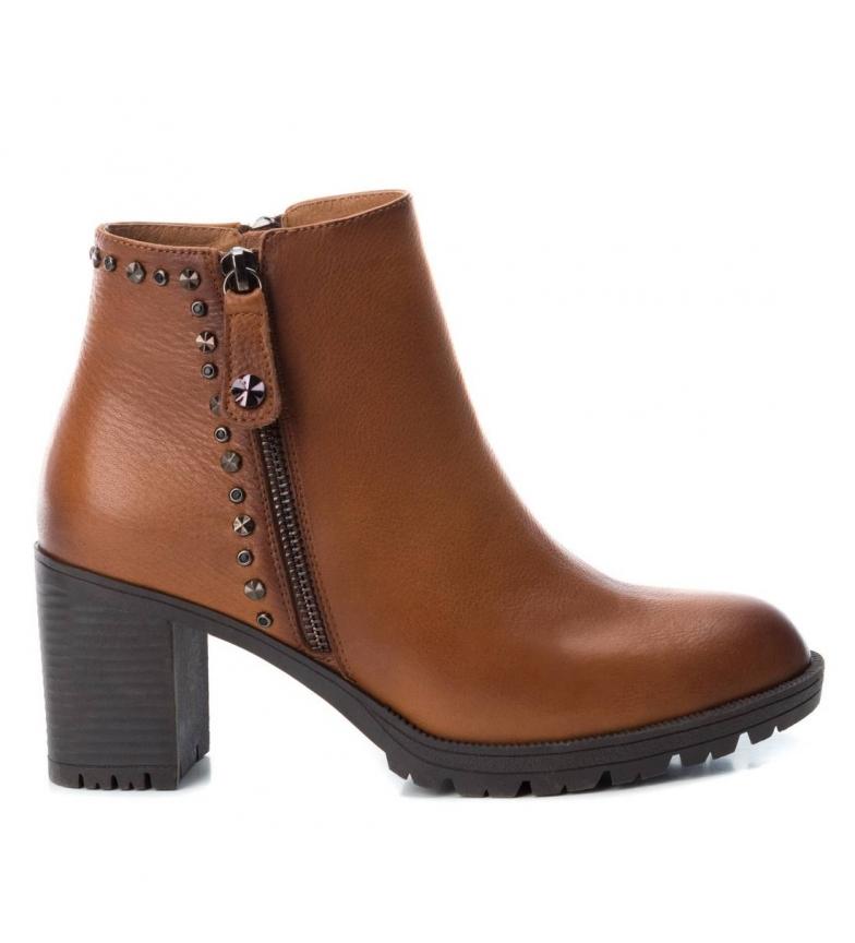 Comprar Carmela Botines de piel 066868 camel -Altura tacón: 7cm-