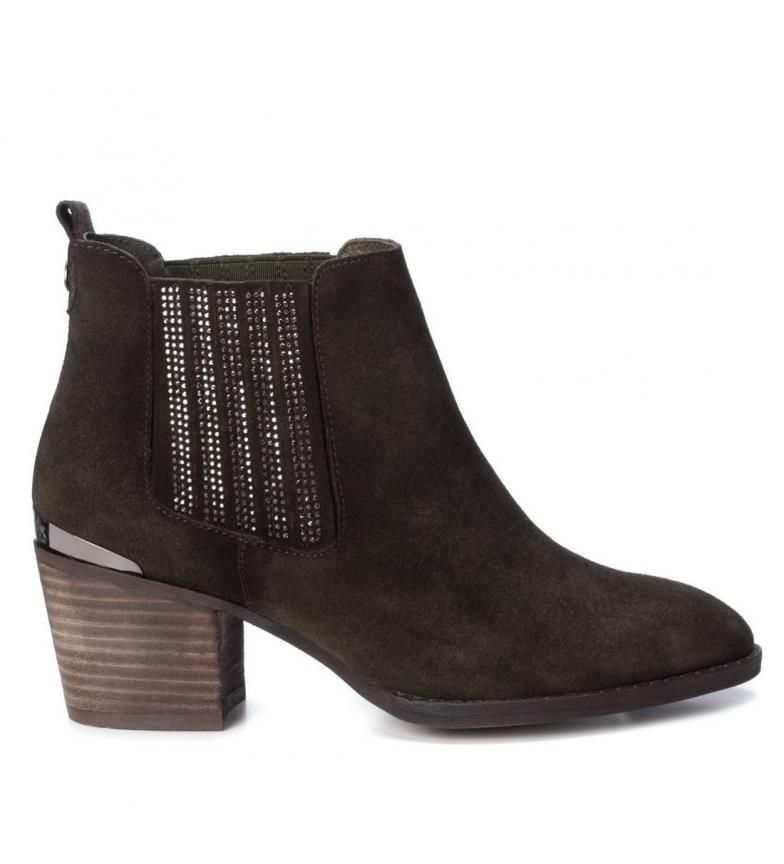 Comprar Carmela Leather ankle boots 066916 khaki -Heel height: 6cm