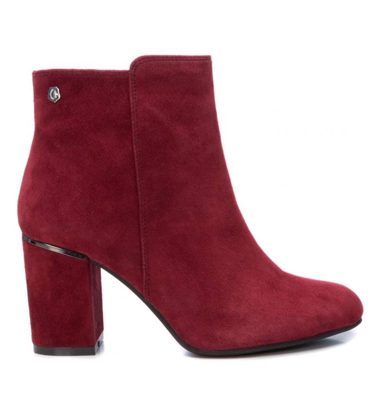 Comprar Carmela Leather ankle boots 066945 burgundy -Heel height: 8cm