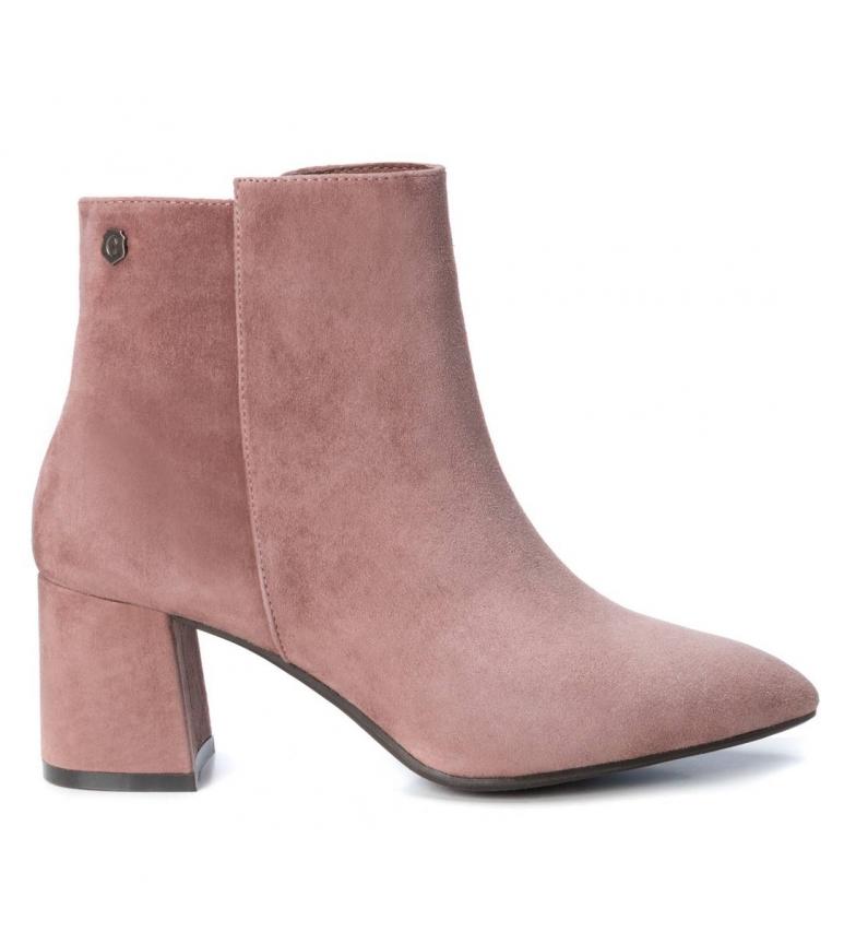 Comprar Carmela Leather ankle boots 066994 nude -Heel height: 6cm
