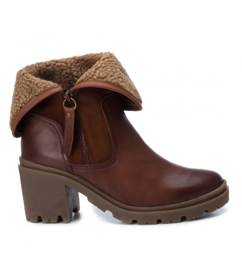 Comprar Carmela Leather boots 0670529 camel -Heel height: 9cm