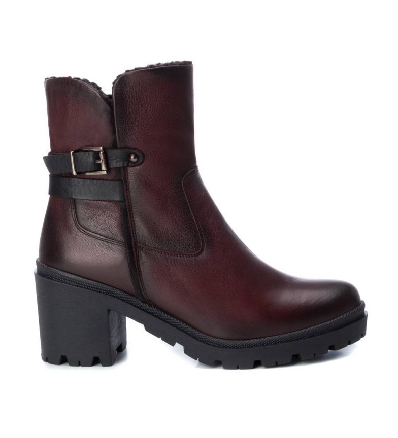 Comprar Carmela Leather ankle boots 067053 burgundy -Heel height: 8cm