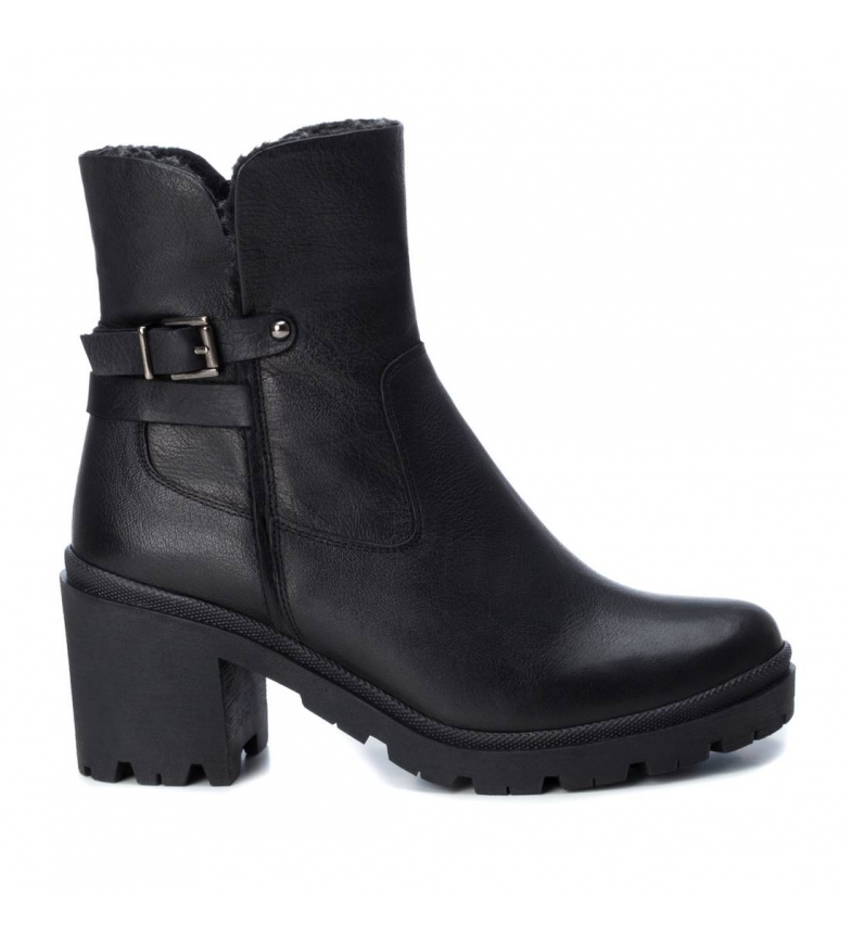 Comprar Carmela Leather ankle boots 067053 black -Heel height: 8cm