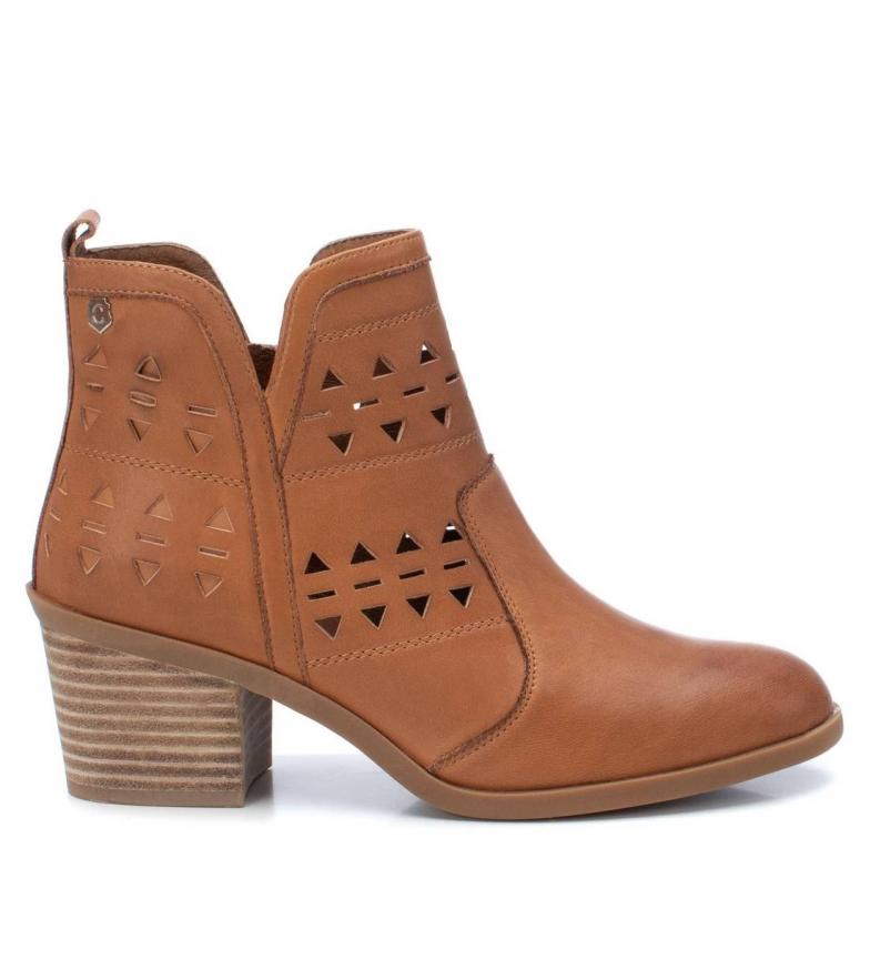 Comprar Carmela Leather ankle boots 067194 camel -Heel height: 6cm