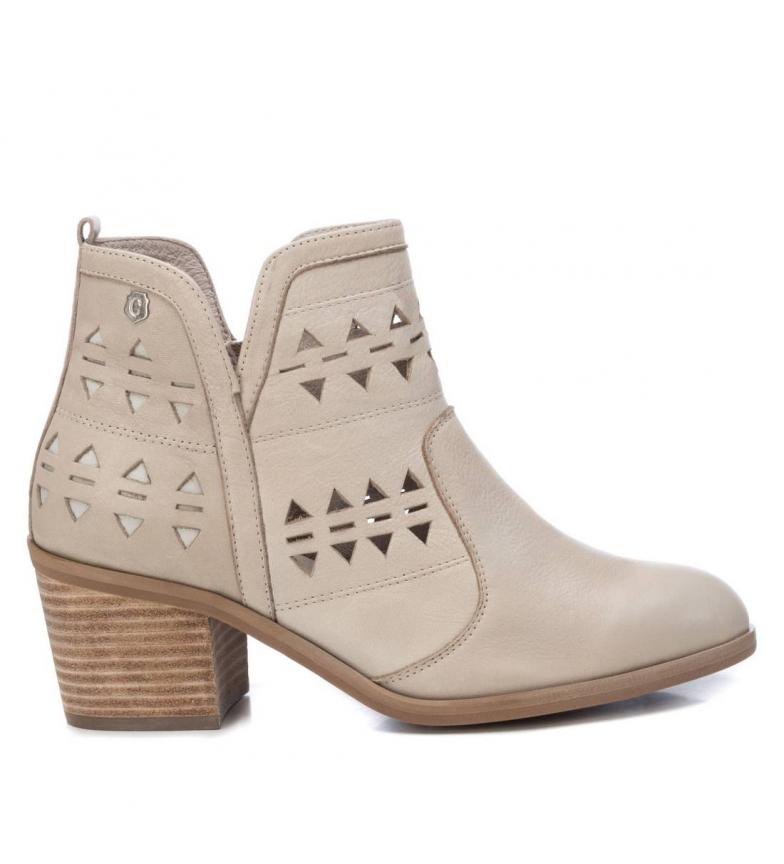 Comprar Carmela Botines de piel 067194 blanco -Altura tacón:  6cm-
