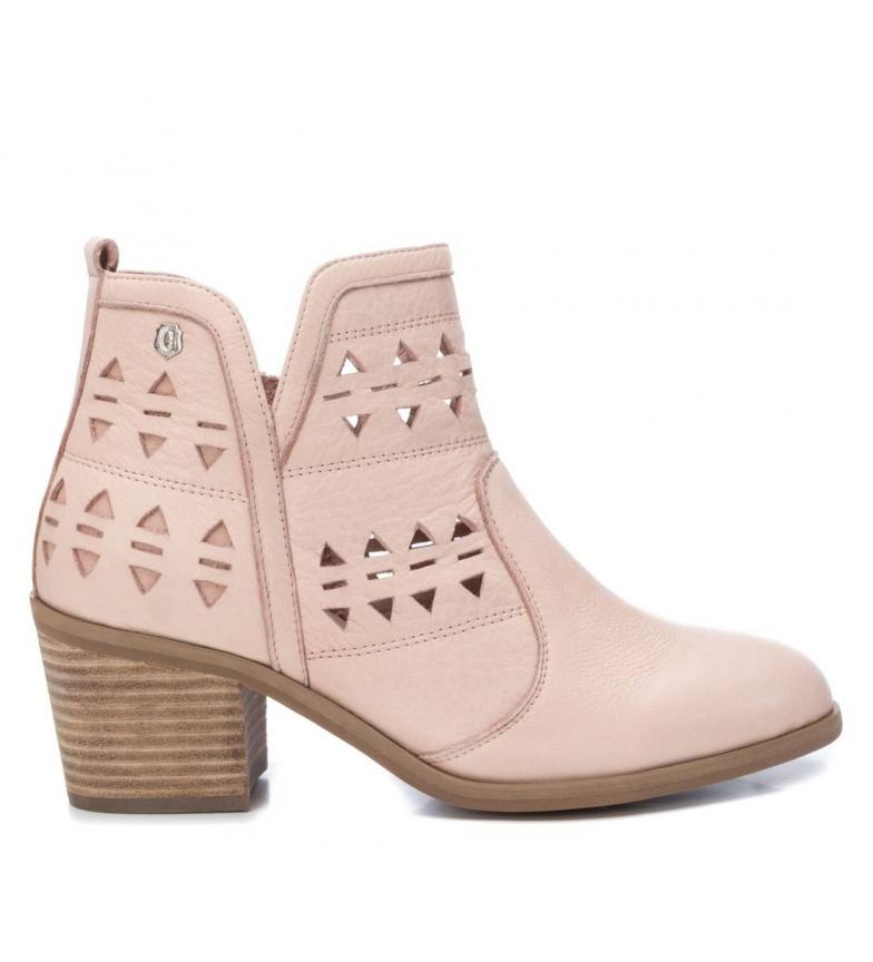 Comprar Carmela Leather ankle boots 067194 nude -Heel height: 6cm