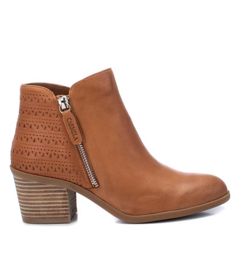 Comprar Carmela Botines de piel 067267 camel -Altura tacón: 6cm-