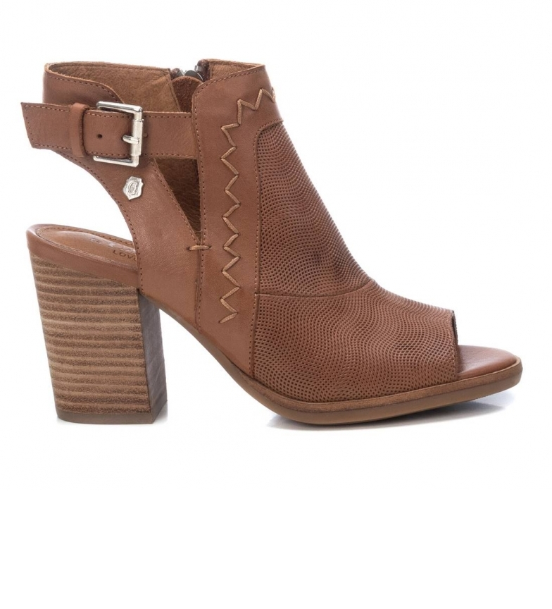 Comprar Carmela Leather ankle boots 067670 brown - Heel height: 9 cm