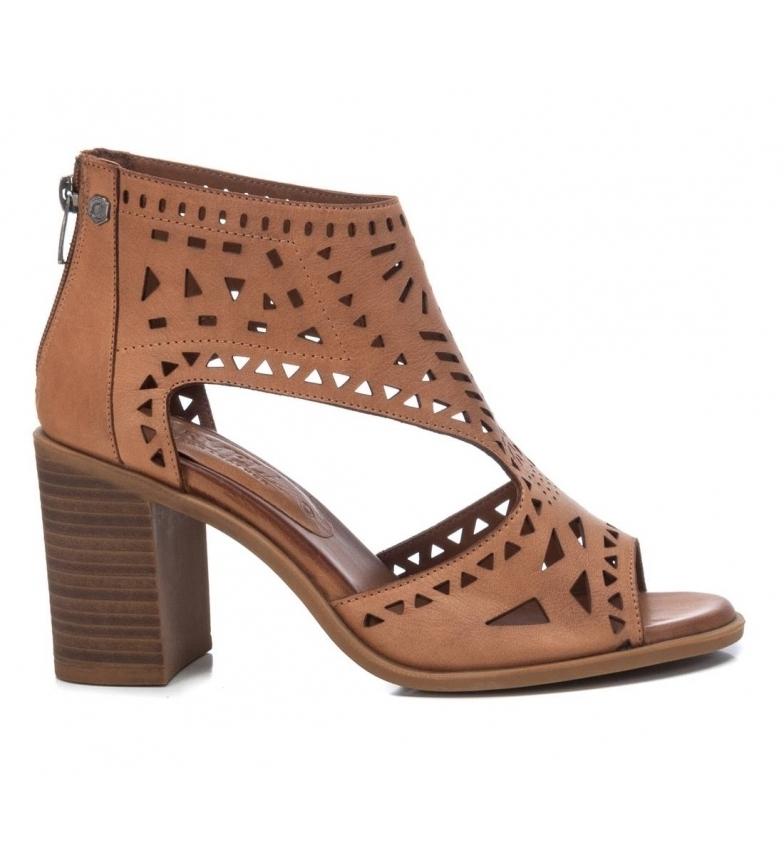 Comprar Carmela Botines de piel 067760 marrón  -altura tacón 8cm-