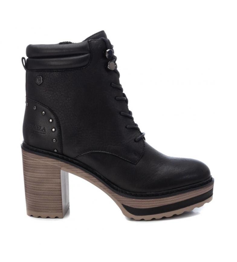 Carmela Botines de piel 67397 negro -Altura tacón: 9 cm-