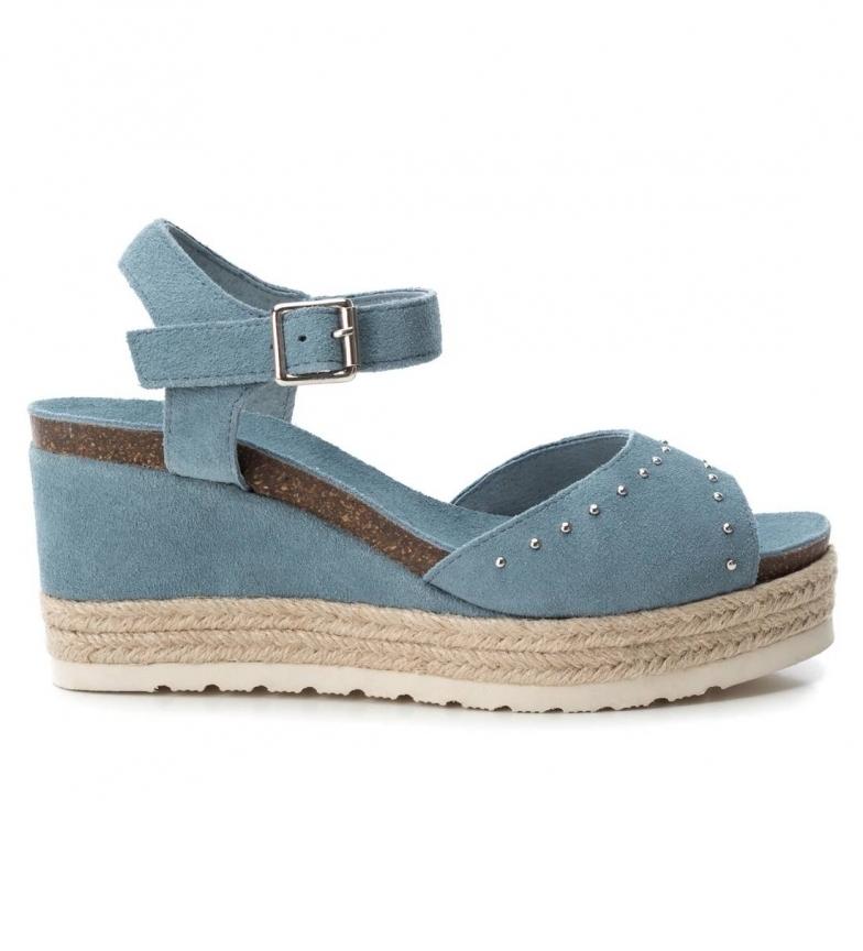 Comprar Carmela Sandalo in pelle 066690 jeans - Altezza zeppa: 9cm