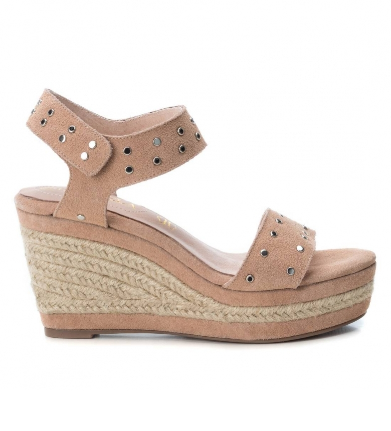 Comprar Carmela Leather Sandal 066813 nude - Wedge height: 10cm-