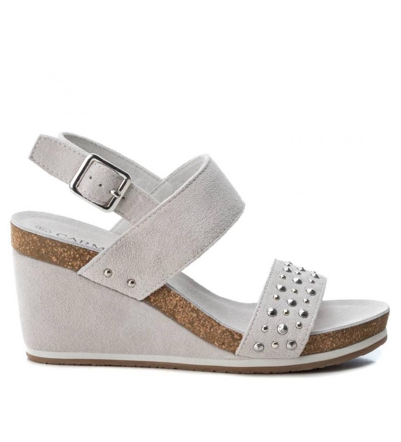 Comprar Carmela Leather sandals 66634 ice - wedge height: 9cm