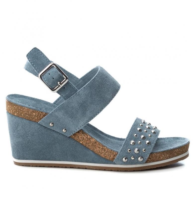 Comprar Carmela Sandalias de piel 66634  jeans -Altura cuña: 9cm-