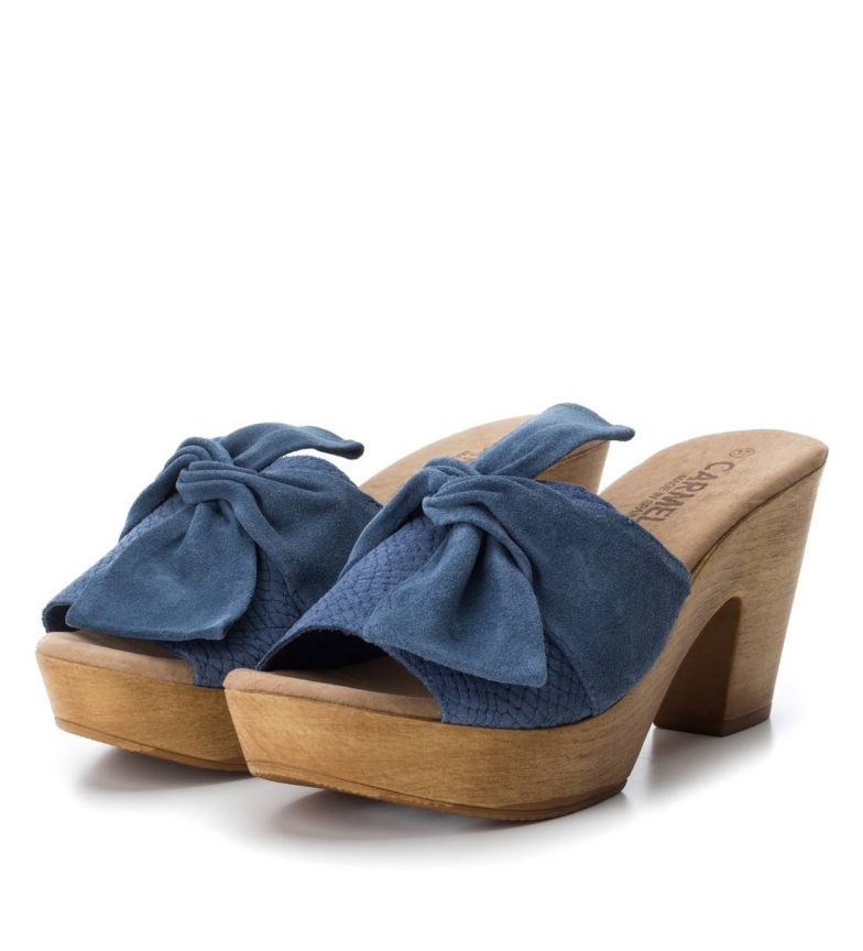 Carmela piel Carmela de Sandalias Sandalias jeans fnFTFqS