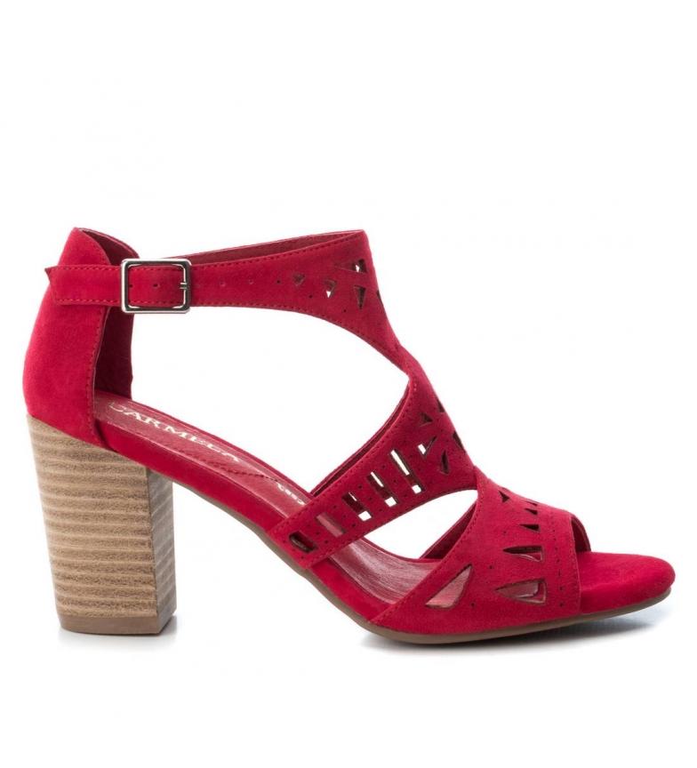 Comprar Carmela Sandales en cuir 066796 rouge -Hauteur du talon : 8cm