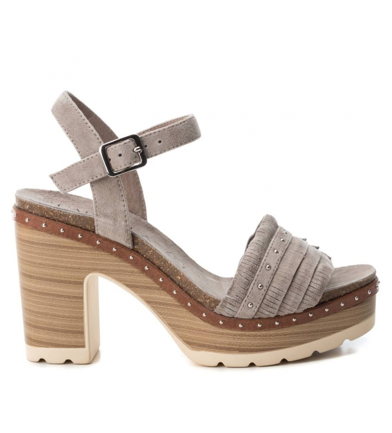 Comprar Carmela Leather sandal 066671 taupe -Heel height: 10cm