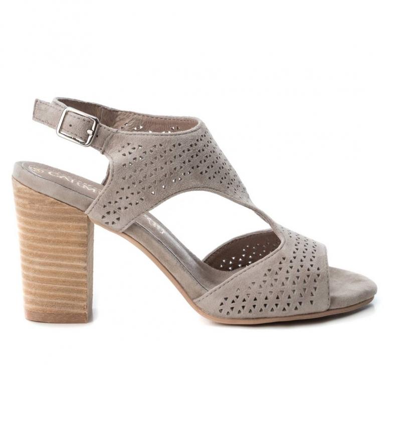 Comprar Carmela Leather sandal 066678 taupe -Heel height: 9cm