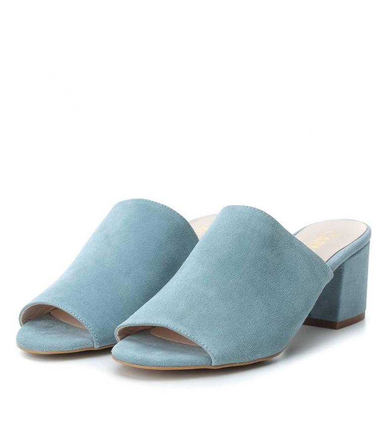 Carmela Sandalias mule de piel jeans