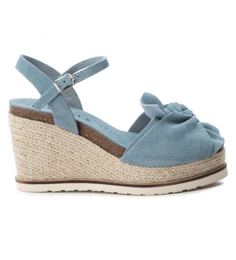 Comprar Carmela Sandalias de piel 066725 azul Altura cuña