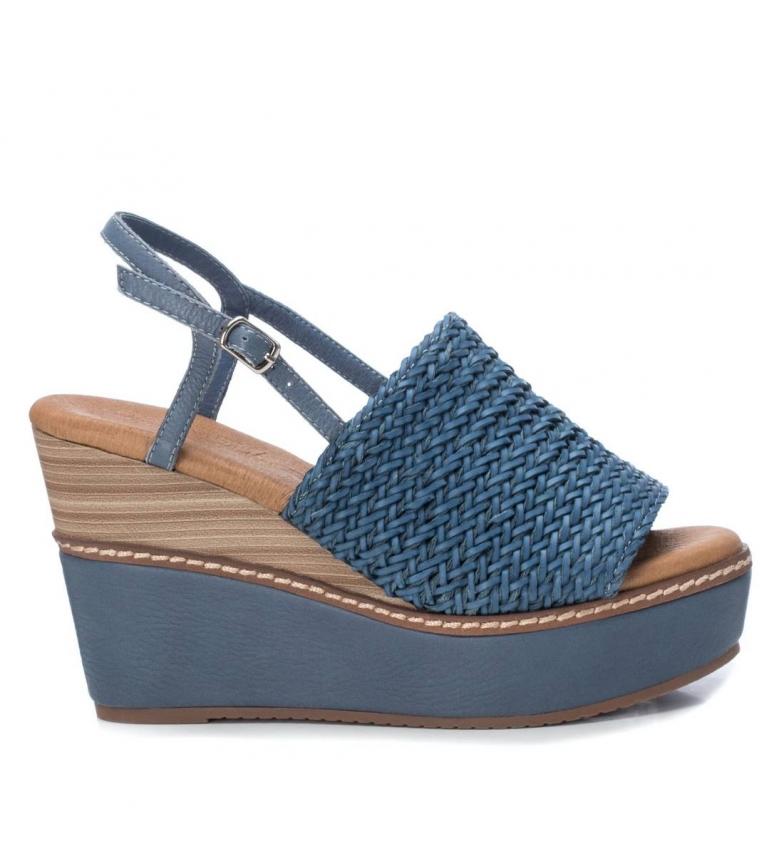 Comprar Carmela Sandales 067174 bleu - hauteur de la cale : 10cm