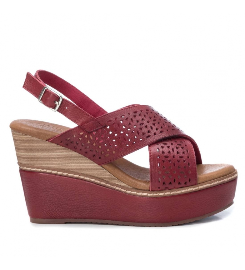Comprar Carmela Sandales en cuir 067245 rouge - Hauteur de la plateforme : 10cm