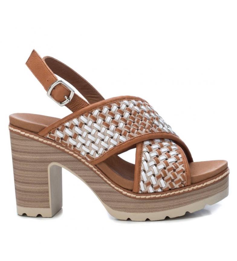 Comprar Carmela Leather sandals 067257 camel -Heel height: 10cm