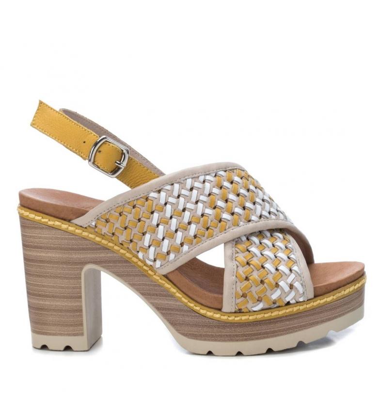 Comprar Carmela Sandales en cuir 067257 jaune - Hauteur du talon : 10cm