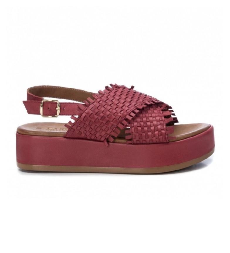 Comprar Carmela Sandalias de piel 067298 rojo -Altura suela: 4cm-