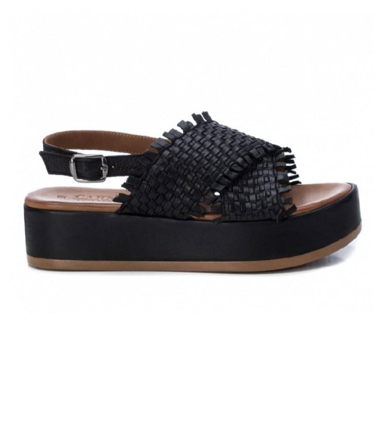 Comprar Carmela Sandalias de piel 067298 negro -Altura suela: 4cm-