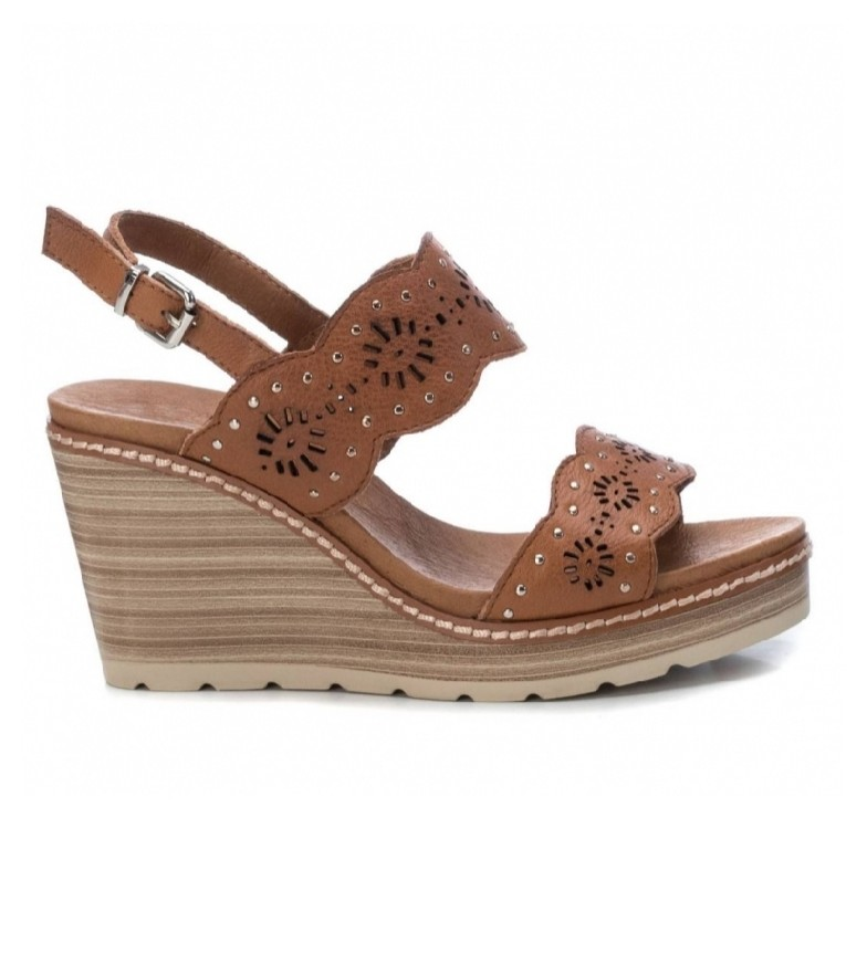 Comprar Carmela Leather sandals 067306 brown - wedge height: 9cm