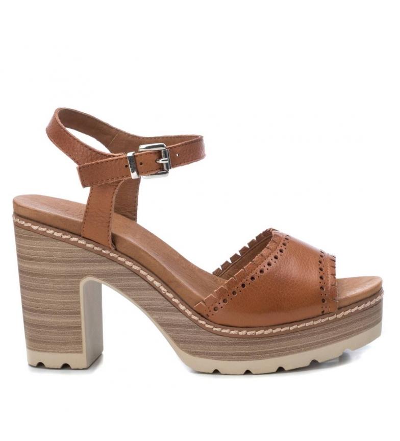 Comprar Carmela Sandales en cuir 067311 camel - hauteur du talon : 10cm