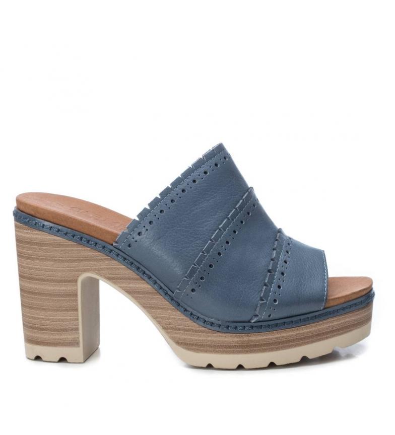 Comprar Carmela Leather sandals 067314 blue -Heel height: 10cm