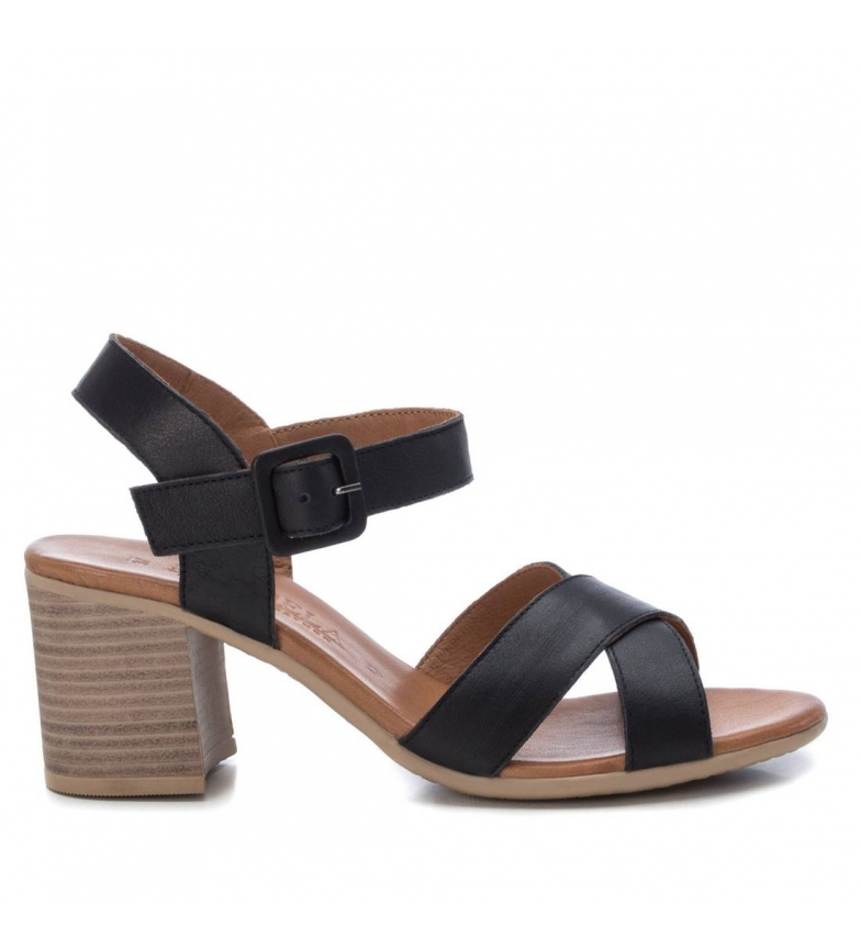 Comprar Carmela Leather sandals 067340 black -Heel height: 7cm