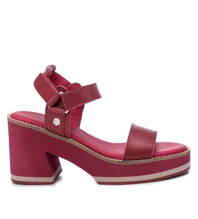 Comprar Carmela Sandales en cuir 067348 bordeaux - Hauteur du talon : 9cm