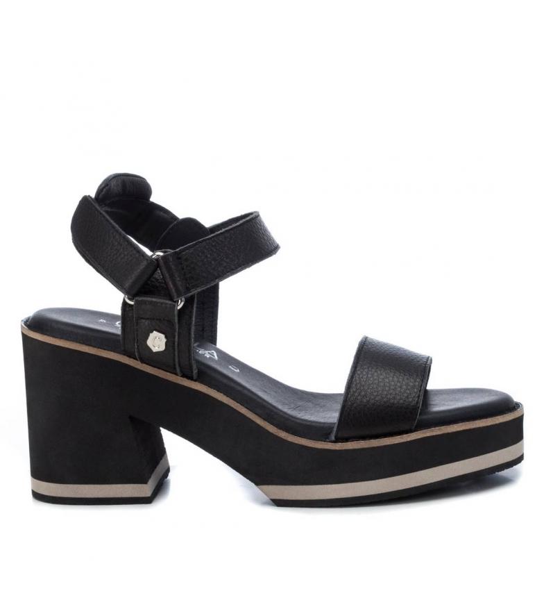 Comprar Carmela Sandalias de piel 067348 negro -Altura tacón: 9cm-
