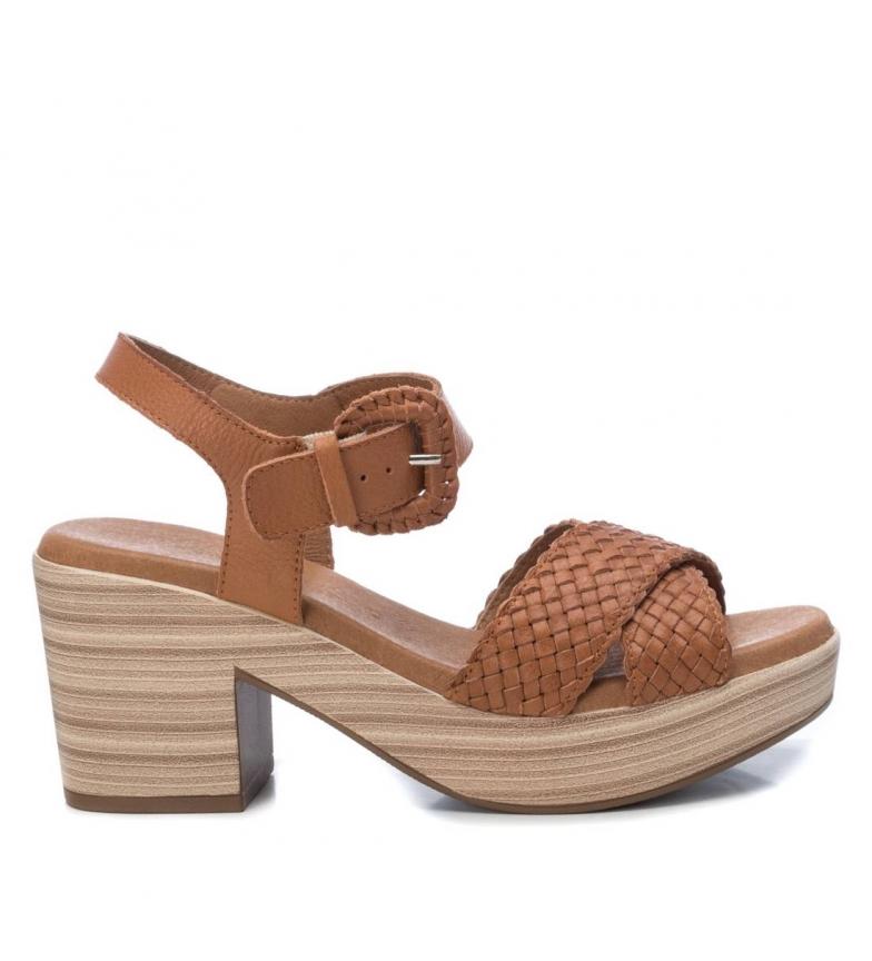 Comprar Carmela Leather sandals 067356 brown -Heel height: 8cm