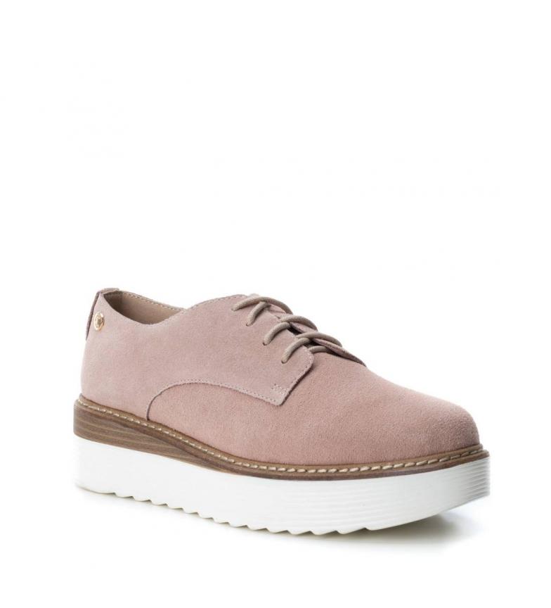 Altura Oxford de Carmela serraje Carmela 5cm Zapato nude Zapato cuña Z6q0wW