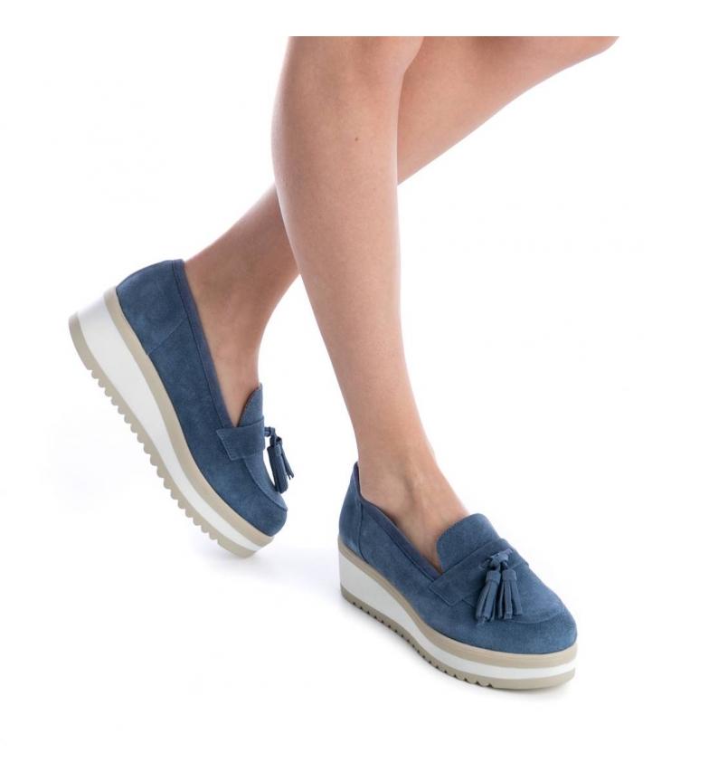 Altura de de Mocasín jeans serraje Carmela 5cm plataforma Carmela Mocasín BaRnWUww