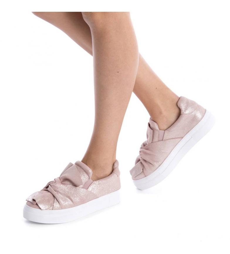 Altura Carmela Slip serraje Slip On Carmela de rosa 3cm plataforma Zr0qxZw