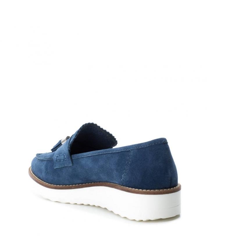 Mocasín flecos Carmela jeans serraje de Oxford Tw0zAx