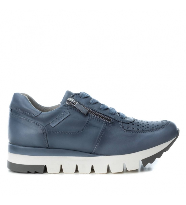Zapatillas De Piel Carmela Jeans 066792 E92YWIDH