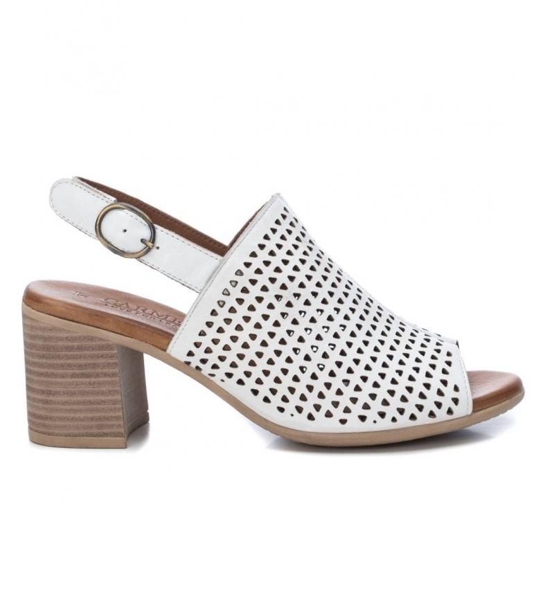 Comprar Carmela Sandali in pelle 067120 bianco - altezza tacco:7cm