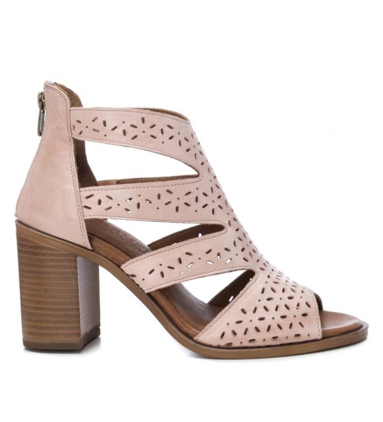Comprar Carmela Leather sandals 067133 nude -Heel height: 8cm