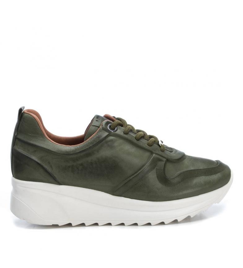 Comprar Carmela Sapatos 67143 cáqui - Altura da cunha: 4cm