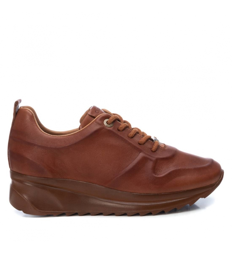Comprar Carmela Leather shoes 067454 camel - wedge height:4cm