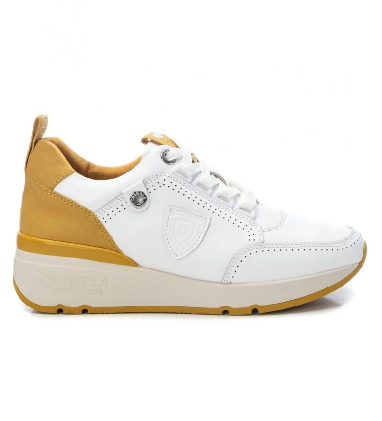 Comprar Carmela Zapatillas de piel 067725  blanco, amarillo