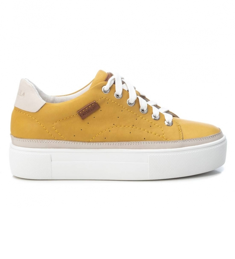 Comprar Carmela Mustard leather sneakers 067732